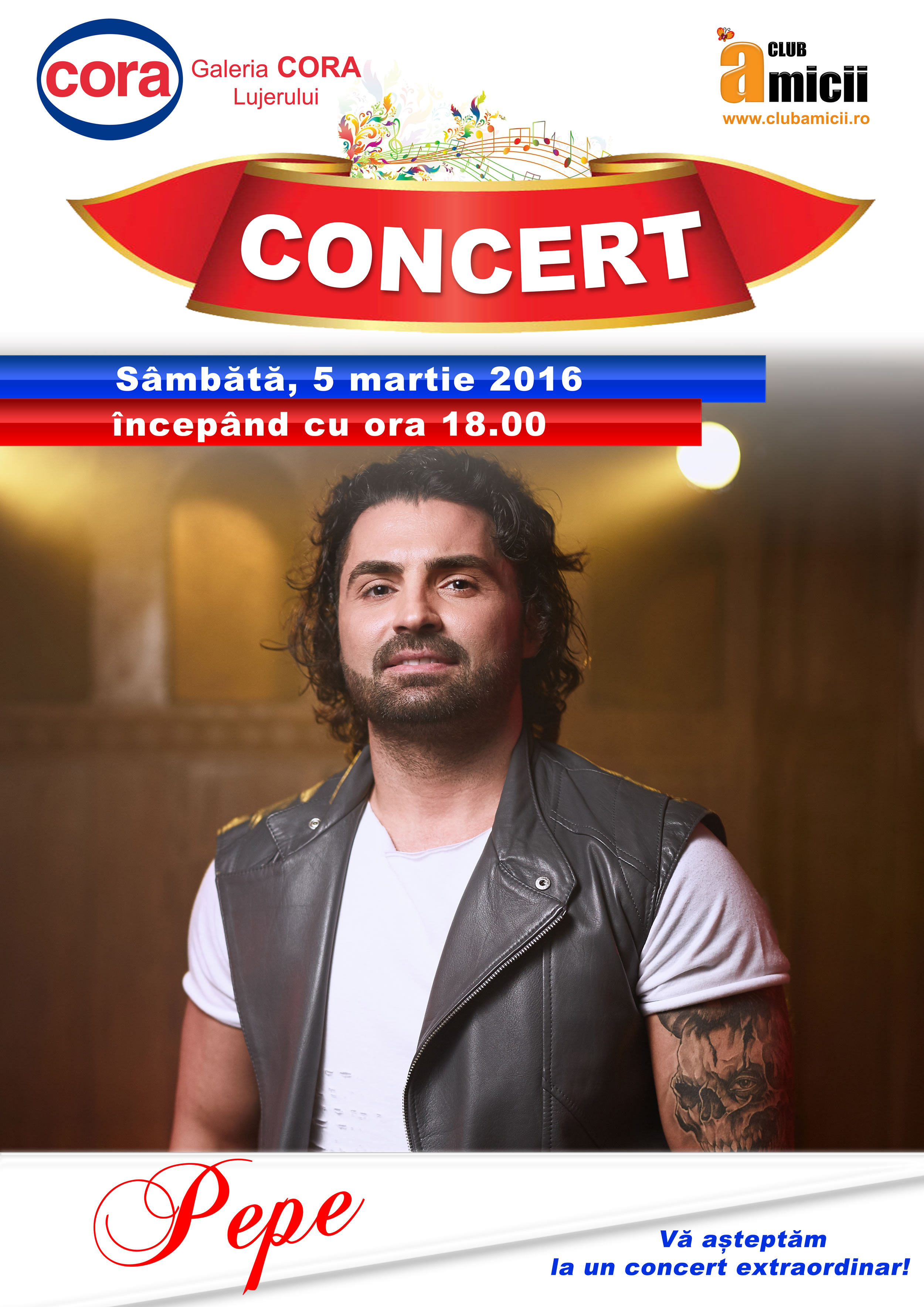 Concert Pepe - #PicaturiDeDragoste in Cora Lujerului Bucuresti