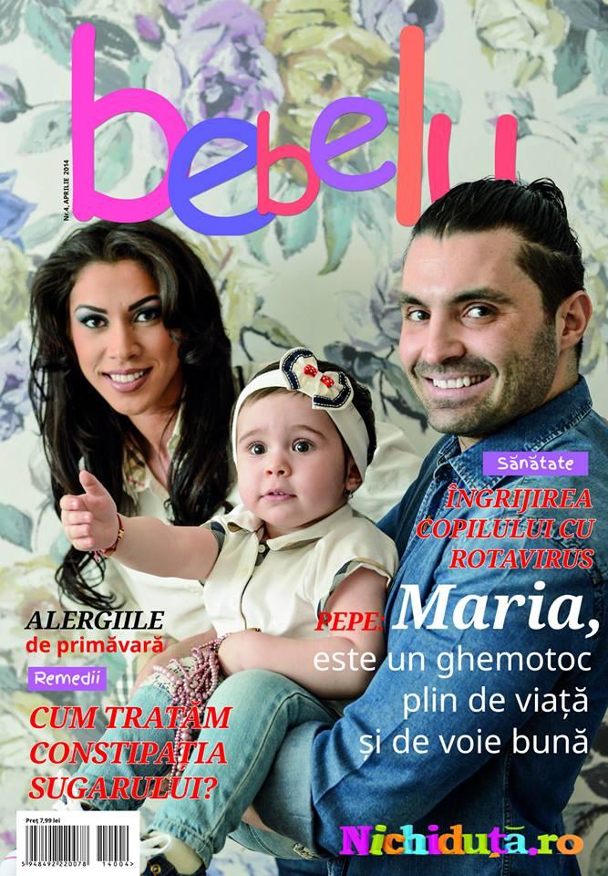 "Pepe si Raluca pe coperta revistei ""Bebelu"""
